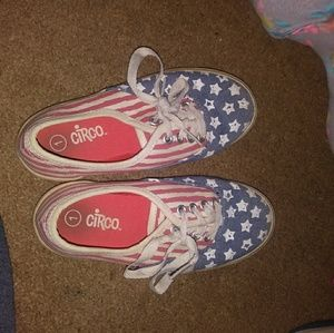 Little Girls American flag shoes Size 1